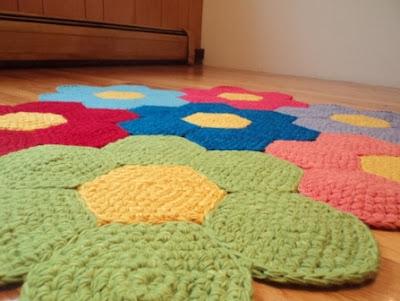 Tapetes de crochê como usá-lo em sua casa.