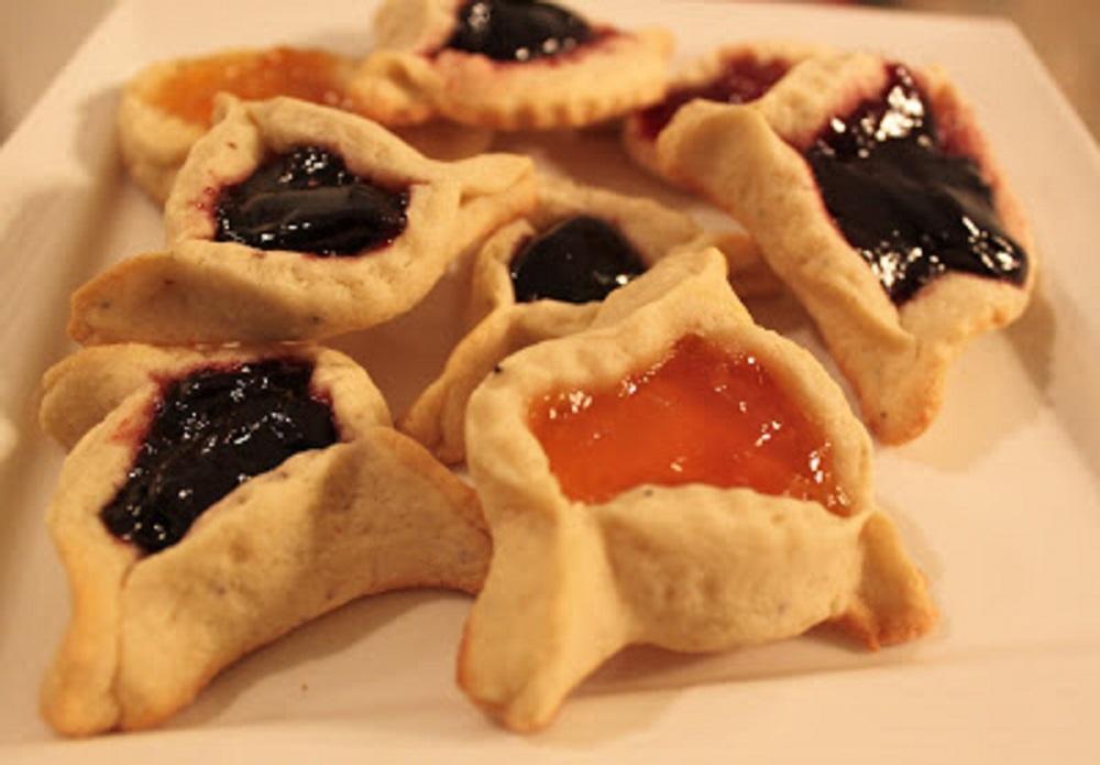 Hamentashen (Jewish Cookies) Filled Fruit