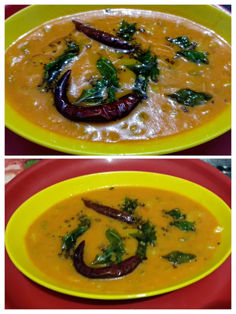 Tomato vegetable kadhi