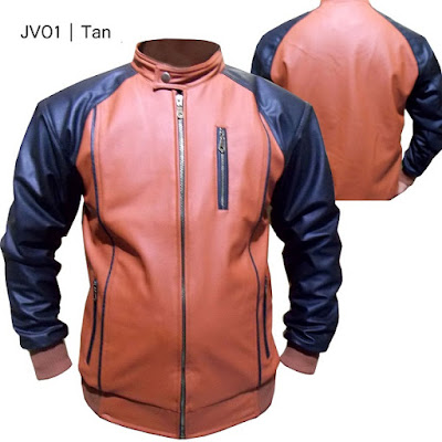 jaket kulit model basseball