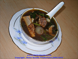Mutton Spring Onions Soup Natural Remedy For Flu