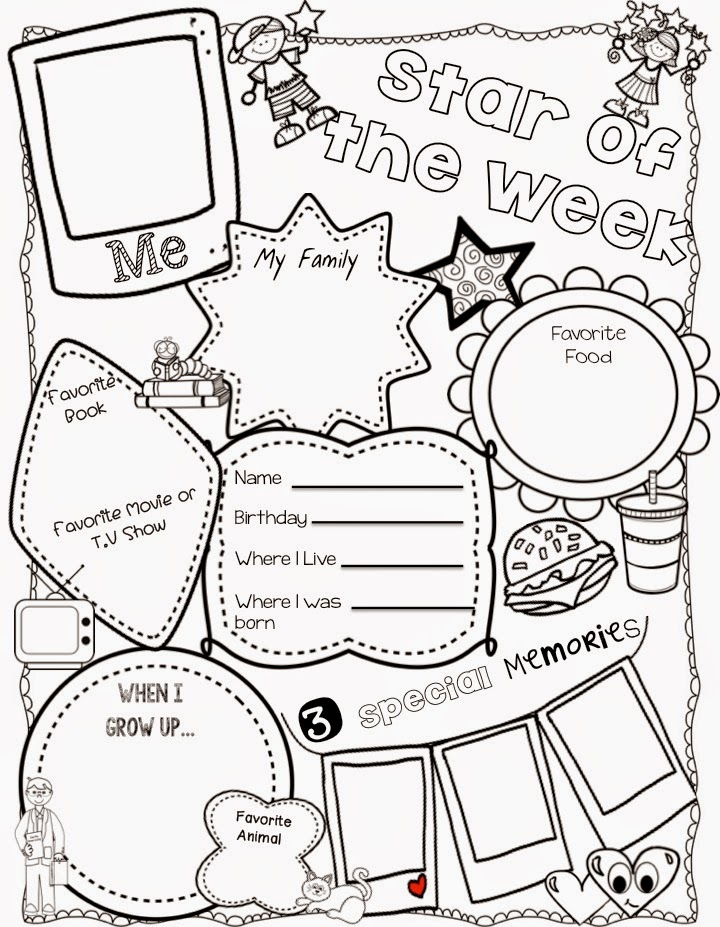 Teacher deals and dollar steals star of the week dollar for Star of the week poster template