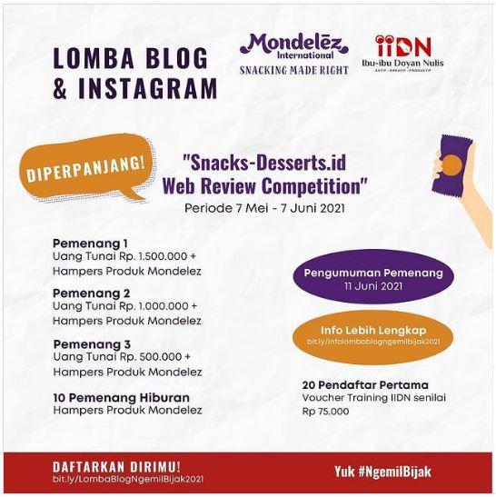 Lomba Blog & Instagram #NgemilBijak Ramadan 2021