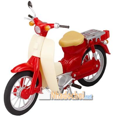 Xe Honda Cub Đồ Chơi Mô Hình Màu Đỏ 2