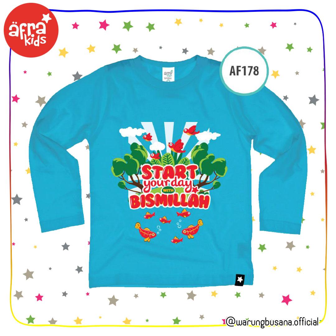 Afrakids Kaos Anak AF178 Start Your Day with Bismillah