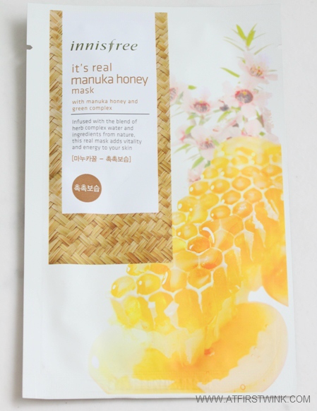 Innisfree It's real manuka honey mask review