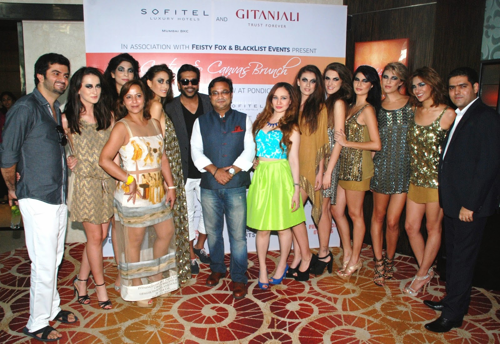 Mr.Biswajit Chakraborty,Rocky Star,Stephanie Timmins Couture & Canvas Brunch at Sofitel,BKC