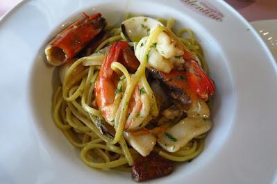 Ristorante Da Valentino, aglio olio seafood