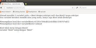 menggunakan md5 di PHP