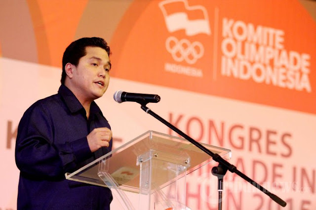 Pimpin Timses Jokowi, Erick Thohir Diminta Mundur dari KOI