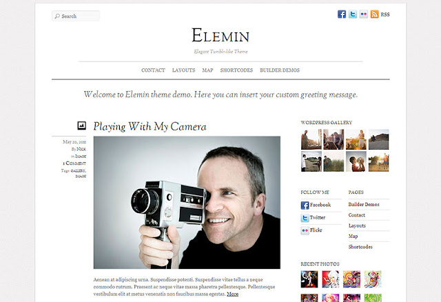 EleMin Beautiful Tumblr Like WordPress Blogging Theme