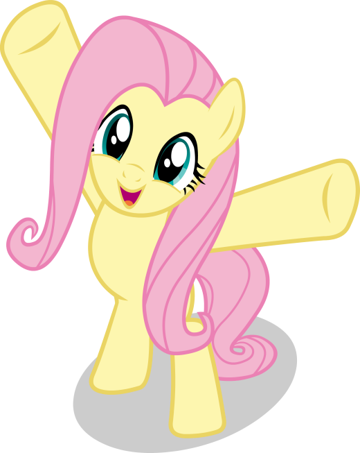 Happy Fluttershy Vector