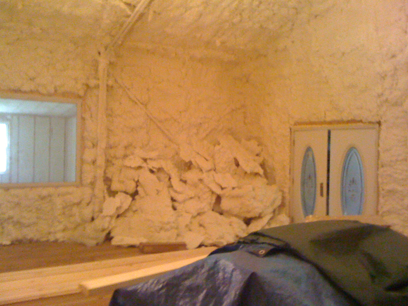 THE RADAR STUDIO: spray foam insulation installation