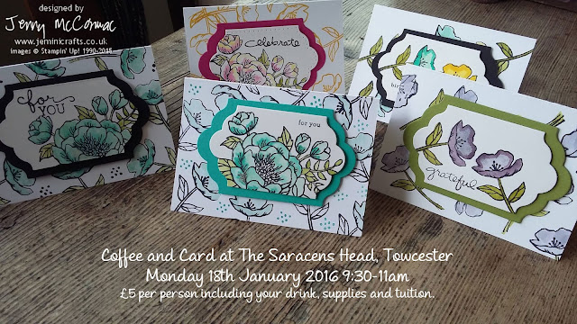 Card making classes Towcester January 2016