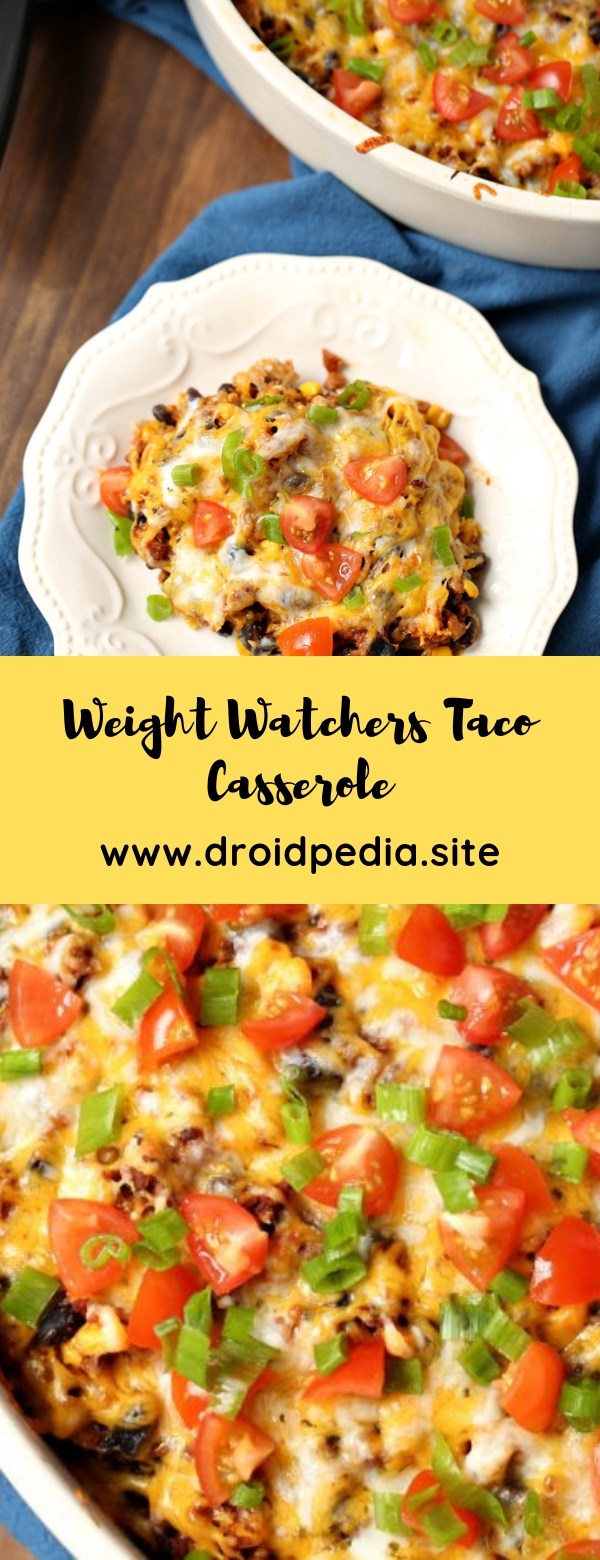 Weight Watchers Taco Casserole #weightwatchers #casserole