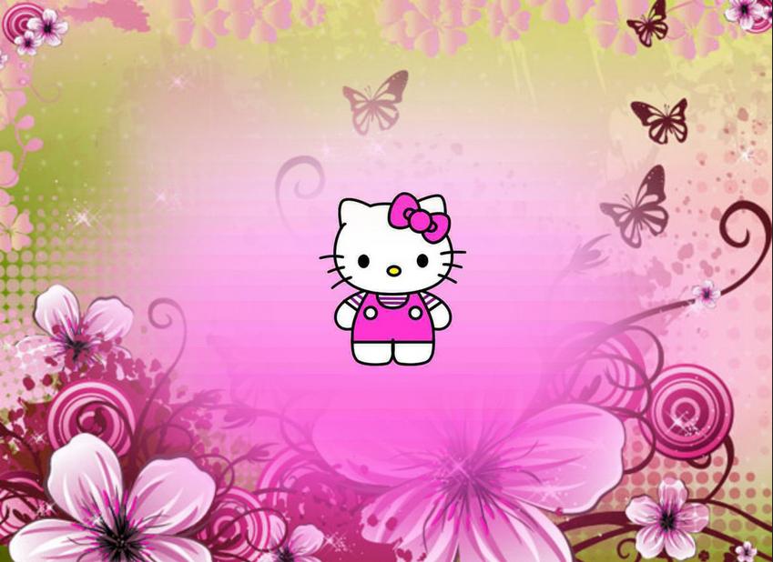 Gambar Background Yang Lucu Hello Kitty