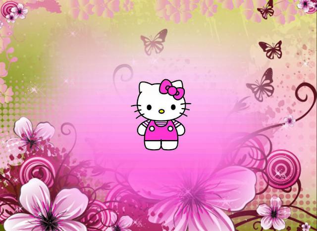 Gambar Background Lucu Hello Kitty ak01502