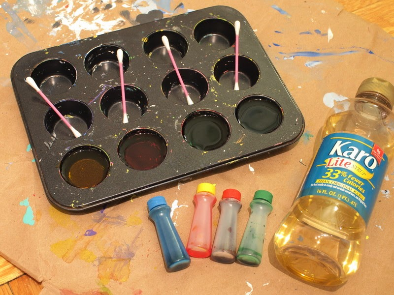 how to make glossy corn syrup paint
