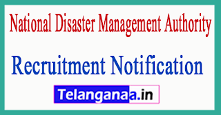National Disaster Management Authority NDMA Recruitment Notification 2017