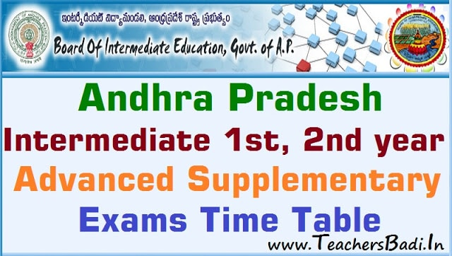 AP Inter Supplementary Exams 2018 Time Table,Exam fee dates,inter exams dates