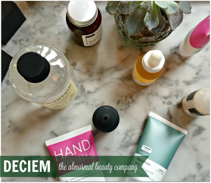Selection of products from Deciem the Abnormal Beauty Company
