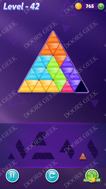 Block! Triangle Puzzle Advanced Level 42 Solution, Cheats, Walkthrough for Android, iPhone, iPad and iPod