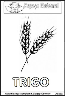 Desenho de trigo para colorir