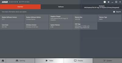 AMD Radeon Settings - Overview