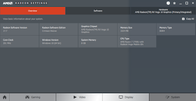 AMD Radeon Settings - System
