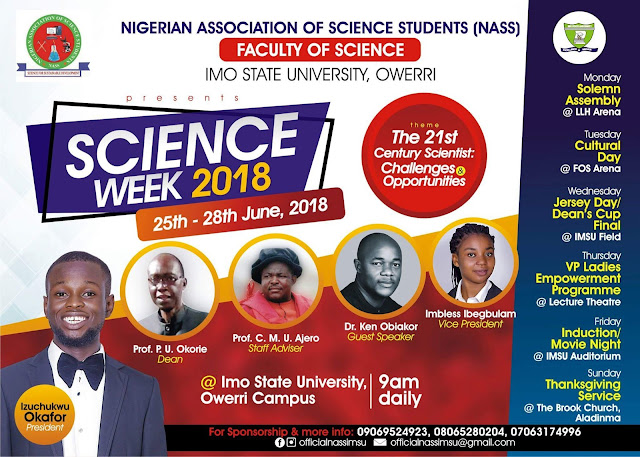 IMSU Science Week 2018