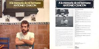 """ANTONIO CHACÓN, PACO CEPERO """"A LA MEMORIA DE MI HERMANO"""" BELTER 1978"""
