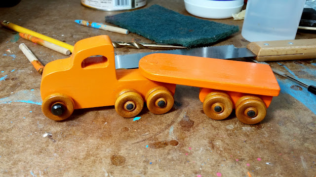 2017-05-11 04.20.25 - Wooden Toy - Play Pal - Trailer - Truck - Orange