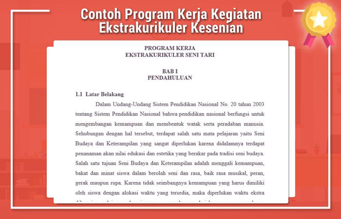 Contoh Program Kerja Kegiatan Ekstrakurikuler Kesenian
