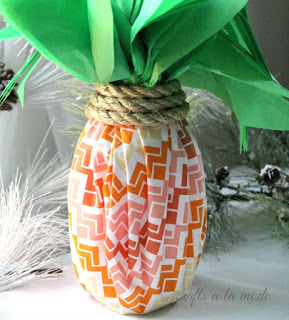 Wine Bottle Pineapple Wrap