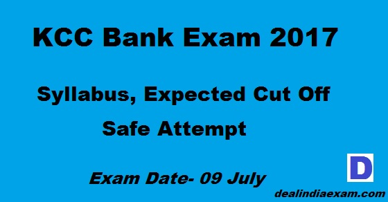 Kcc Bank Syllabus Cut off 2017