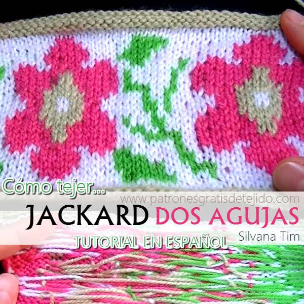Cómo tejer Jackard Dos Agujas / Tutorial en Español | Crochet y Dos ...