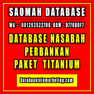 Jual Database Nasabah Perbankan - Paket Titanium