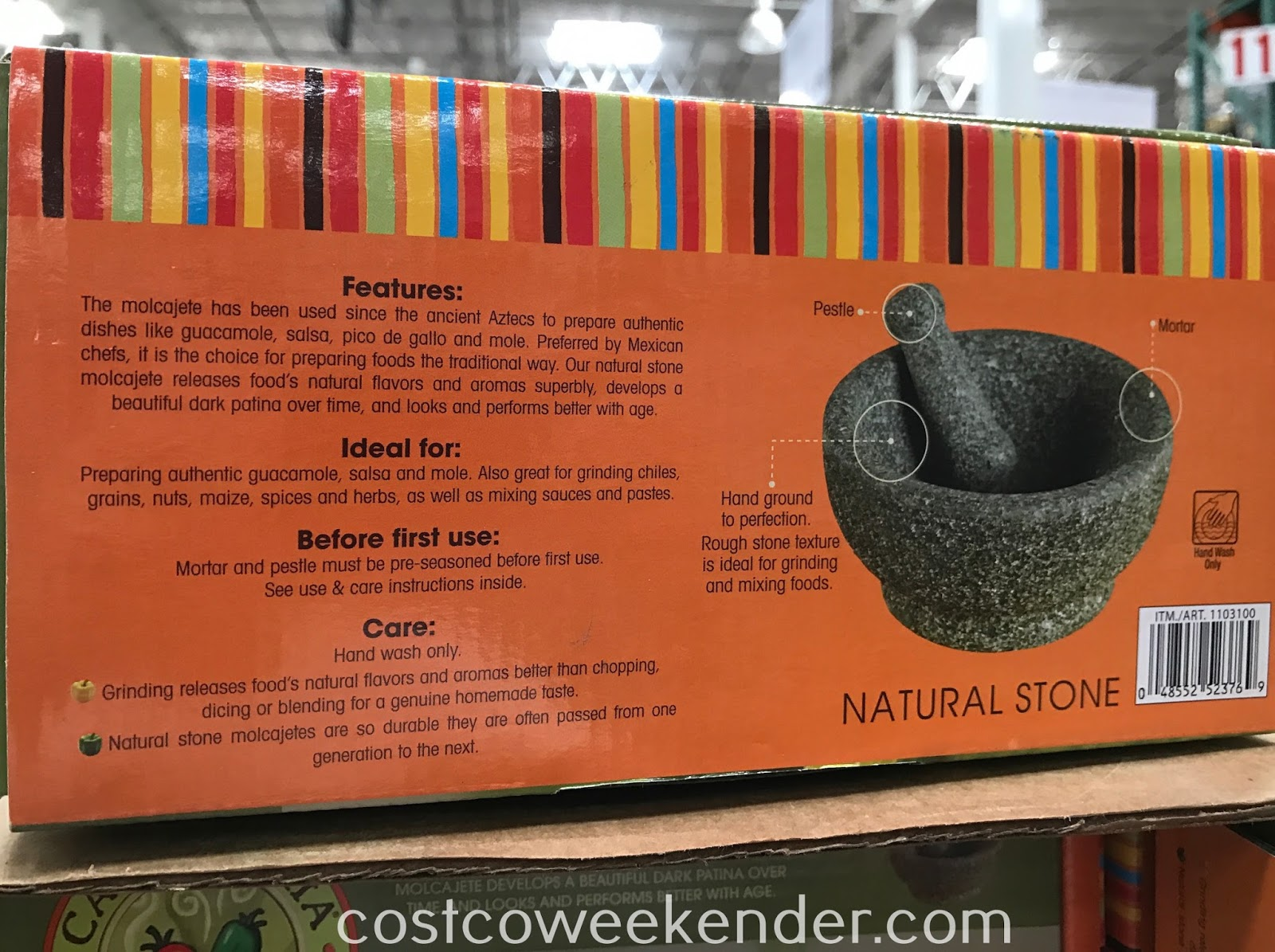Costco 1103100 - Casa Maria Mortar and Pestle: practical and rustic-looking for your kitchen