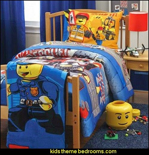Lego City Bedding Set Boys Bed Bedroom Sheets Comforter Lego bedroom