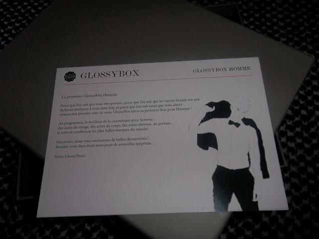Glossybox Men - Avril 2012