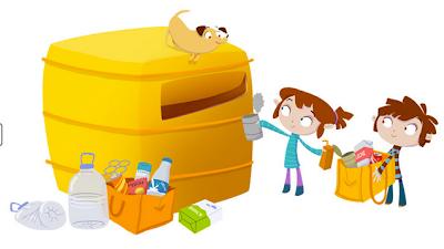 Resultado de imagen de contenedor reciclaje dibujo
