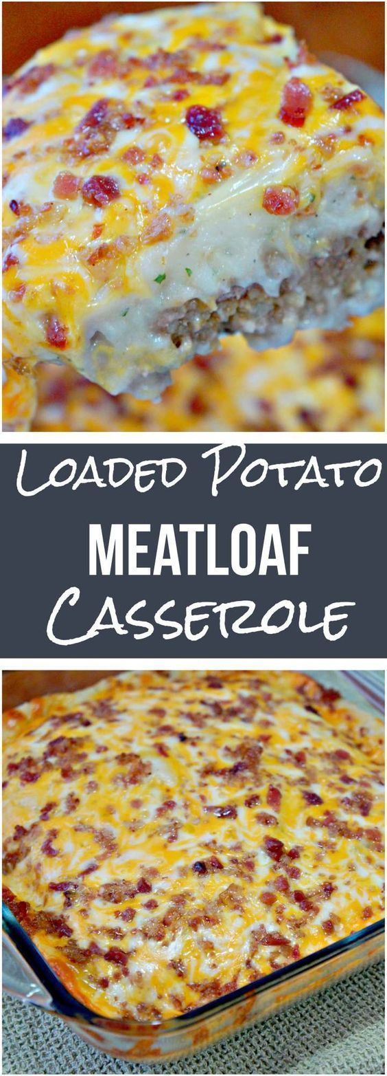 Loaded Potato & Meatloaf Casserole Recipe