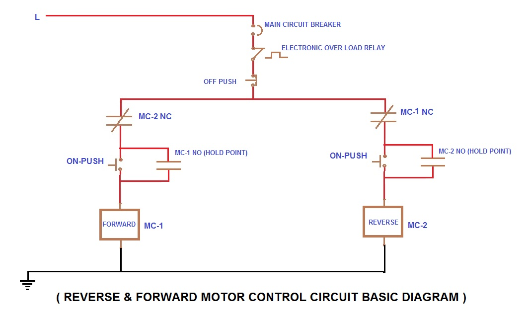motor circuits motor control circuit diagrams rh motorcircuits blogspot com reverse forward power circuit diagram reverse forward schematic diagram