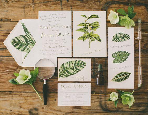 invitaciones boda tropicales
