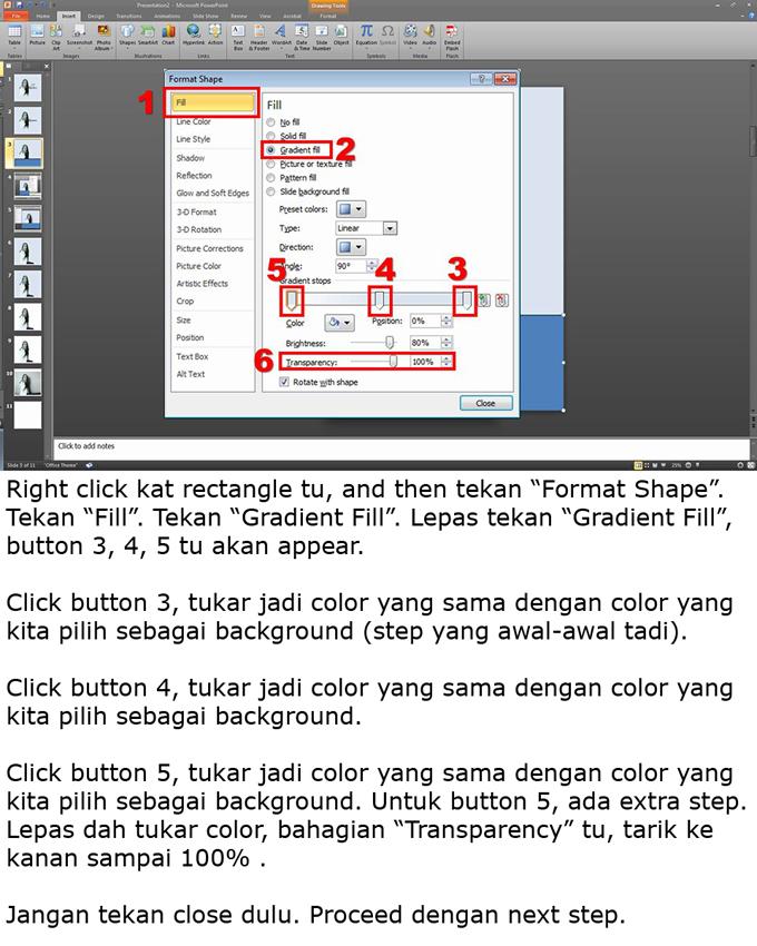 Langkah-langkah untuk edit gambar produk untuk banner iklan guna powerpoint