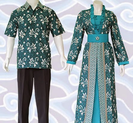 contoh model baju terusan batik