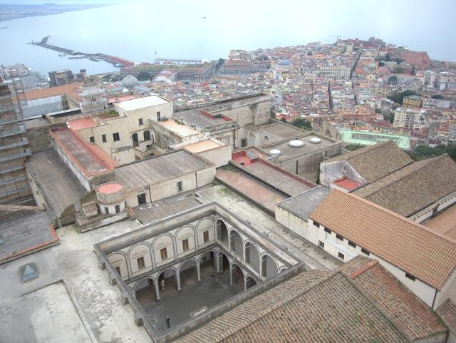 miasto, widok z góry na Neapol