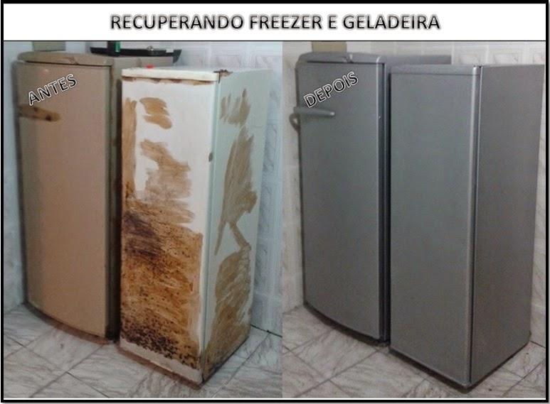 PINTURA FREEZER E GELADEIRA