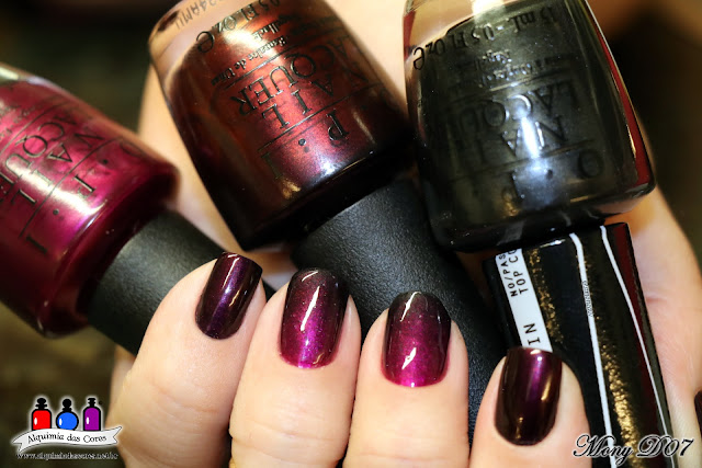 Every Month Is Oktoberfest, Germany Collection, OPI, 2013 Gwen Stefani Collection, Kiss Me - Or Elf!, 4 In The Morning,  Toxifree, carimbo da La Femme, preto, magenta, roxo, Konad, Konad Square, image plate 14, Mony D07, ombré, degradê, Aliexpress, Dica,