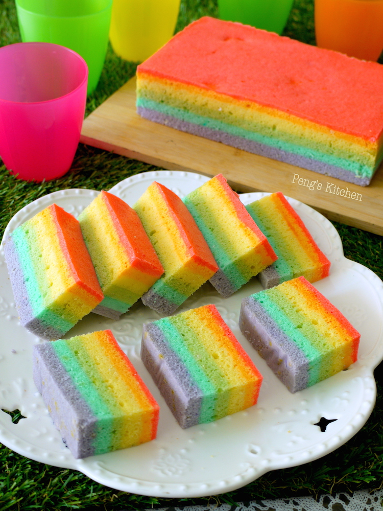 Peng S Kitchen Steamed Rainbow Cake